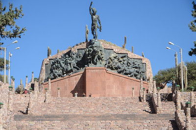 Independence statue...
