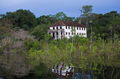 ruin of rubber baron mansion
