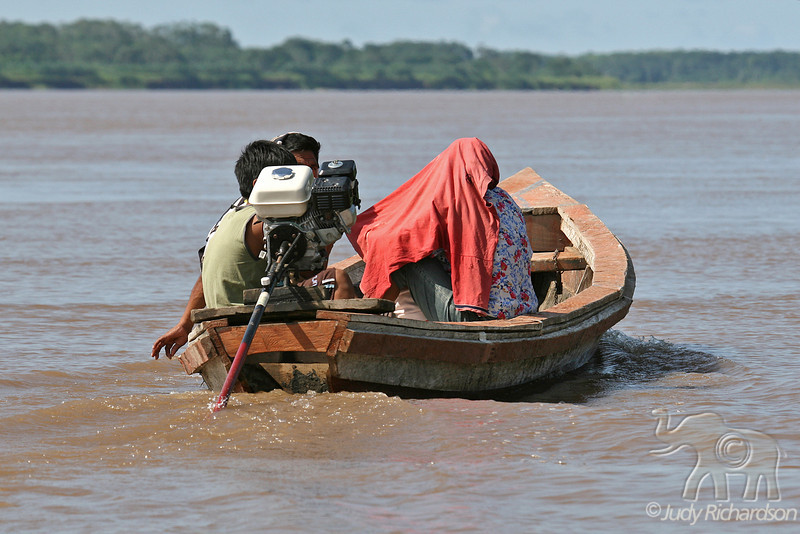 Sun Protection on the Amazon~local boat