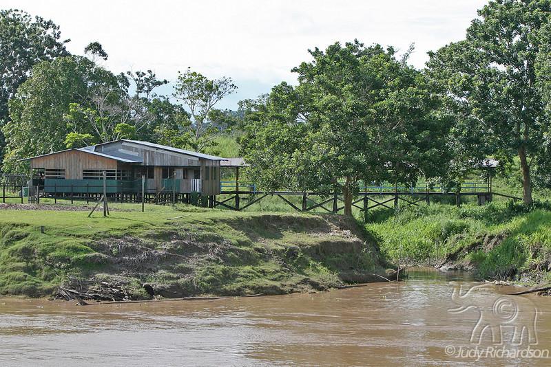 Modern dwelling on the Amazon River