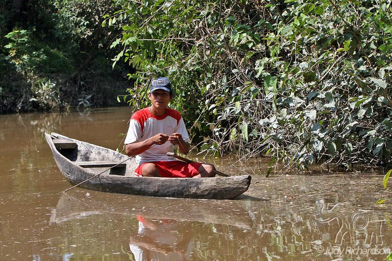 Man fishing for Piranha