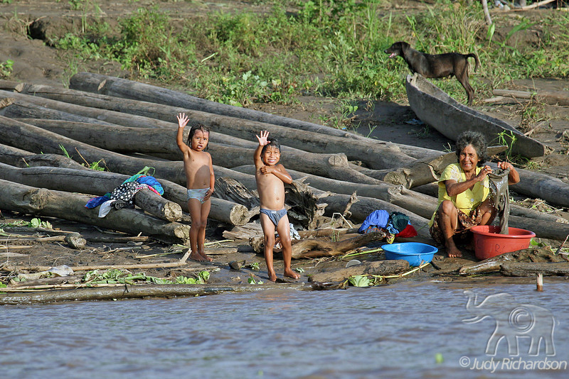 Laundry day on the Amazon River