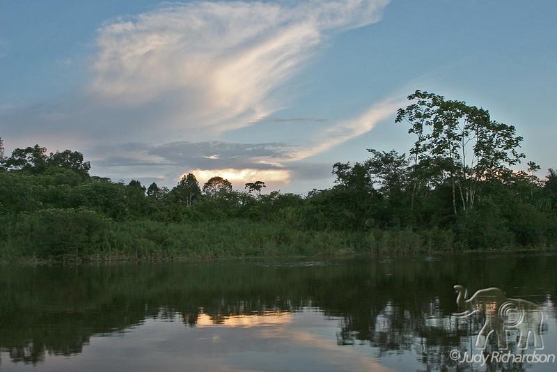Dusk on an Amazon tributary