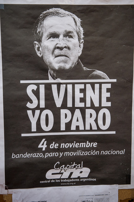 USA Yes - Bush No Poster,  Buenos Aires