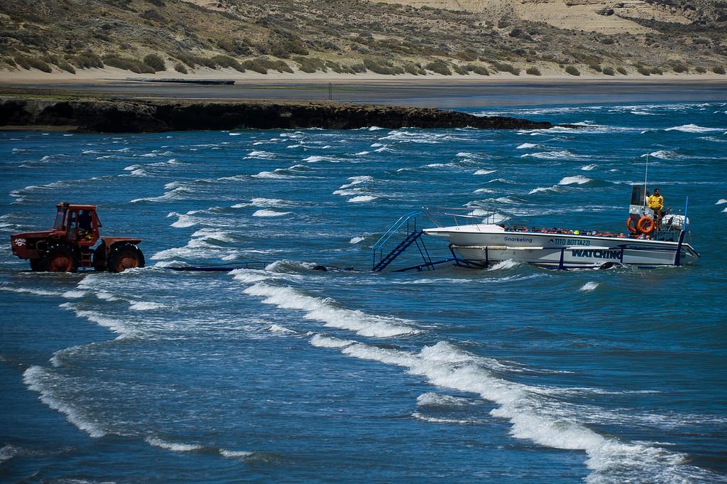 Boat Launch - Peninsula Valdes, Argentina