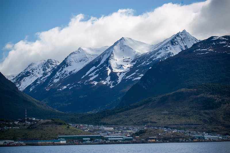 Three Sisters Peaks - Andes Near  Ushuaia, Argentina