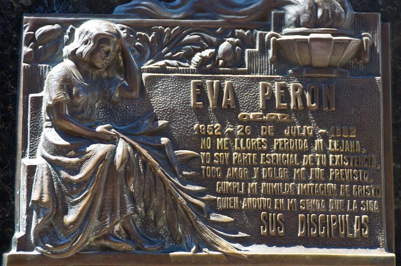 Eva Peron's Burial Place, Cementario de la Recoleta, Buenos Aires, Argentina