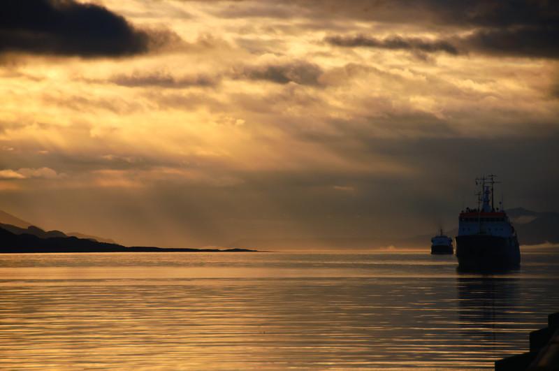 Sunrise, Ushuaia, Argentina Harbor