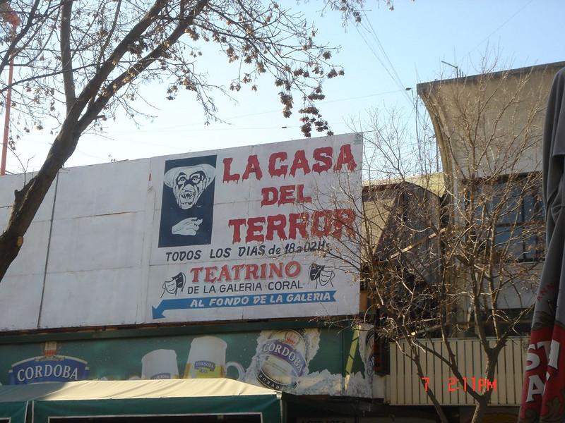 La Casa del Terror sign in Argentina