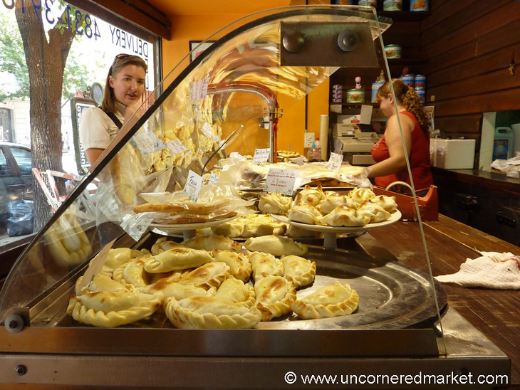 Shopping for Empanadas in Buenos Aires, Argentina