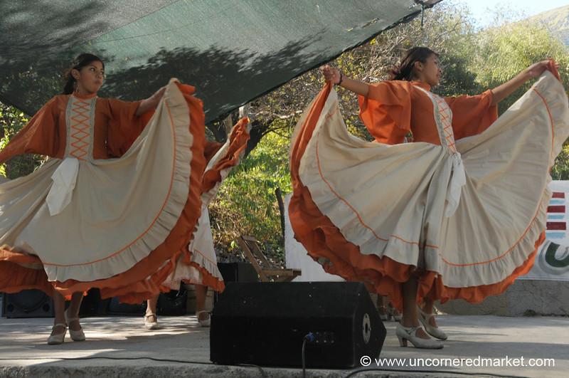 Folk Dancing at a Village Festival - Northern Argentina