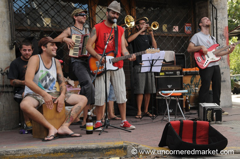 Playing on the Streets at San Telmo - Buenos Aires, Argentina