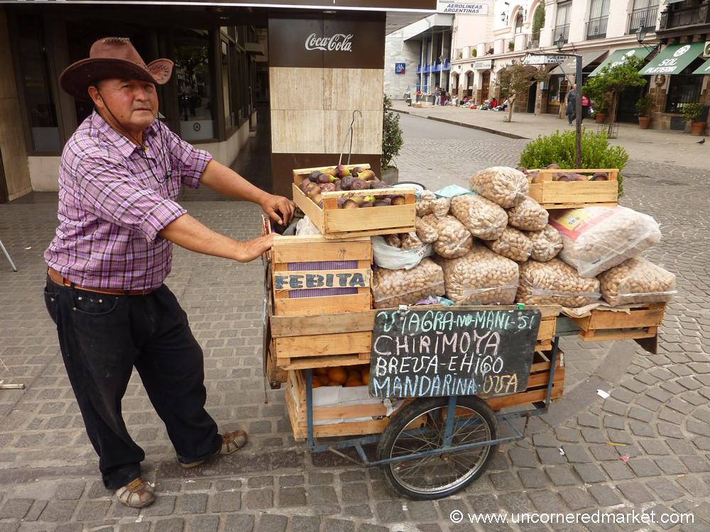 Street Vendor of Fruit in Salta, Argentina