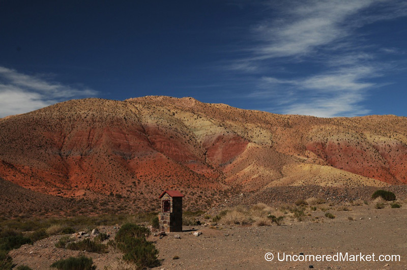 A Small Shrine on the Side of the Road - Purmamarca, Argentina