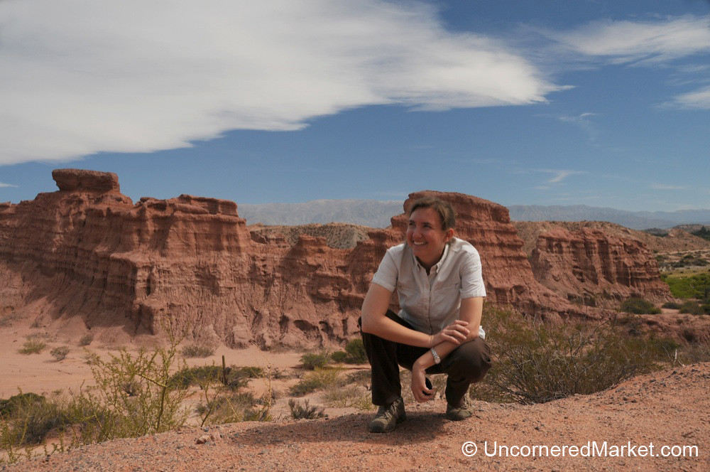Audrey and the Red Rocks of Northwestern Argentina