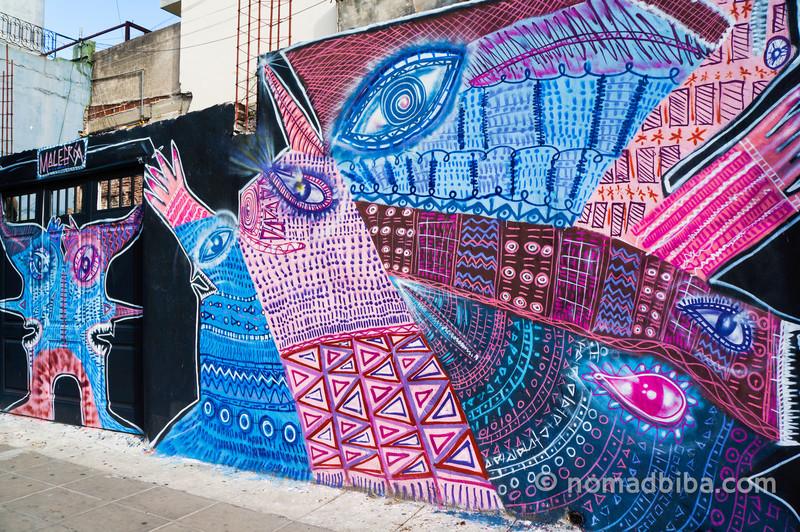 Malegria mural in San Telmo