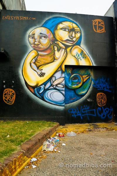 Entes & Pesimo mural