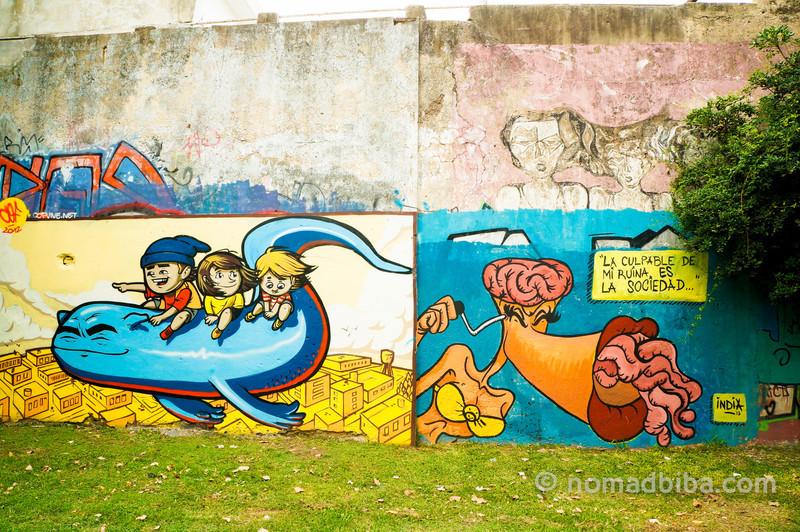 COF mural in Saavedra, Buenos Aires