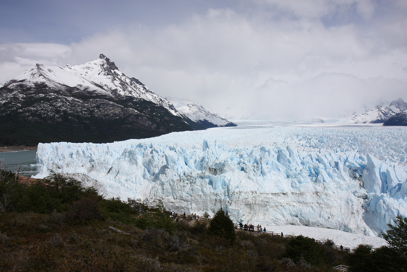 Perito Moreno Glacier blocking the lake