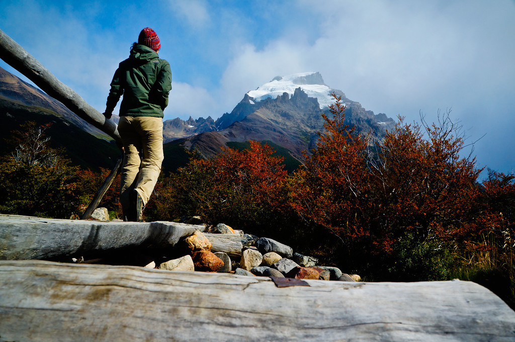 Admiring Cerro Solo in El Chaltén, Argentina
