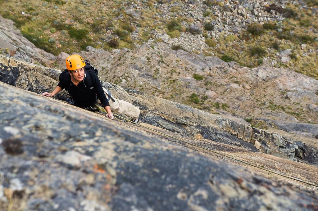 Me rock climbing in El Chaltén, Argentina