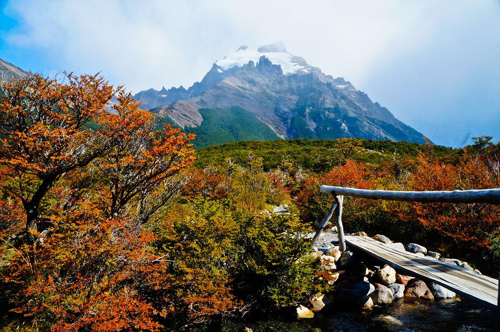 Fall view of Cerro Solo in El Chaltén, Argentina