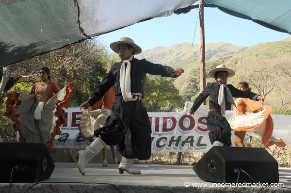 Men Take the Stage in Folk Dancing - Northern Argentina