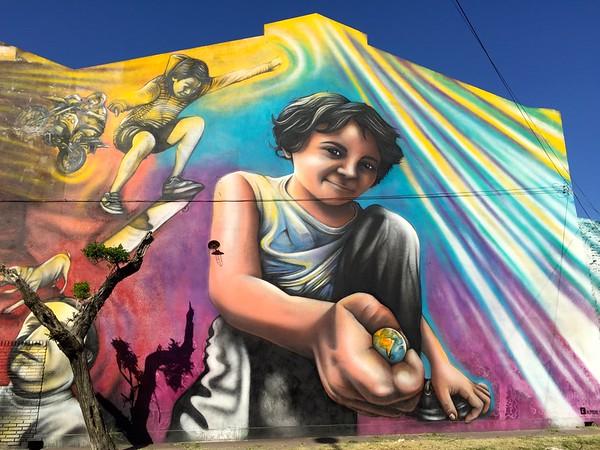 Factory mural