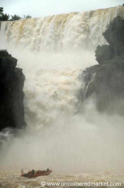 Going Into the Waterfalls - Iguazu Falls, Argentina