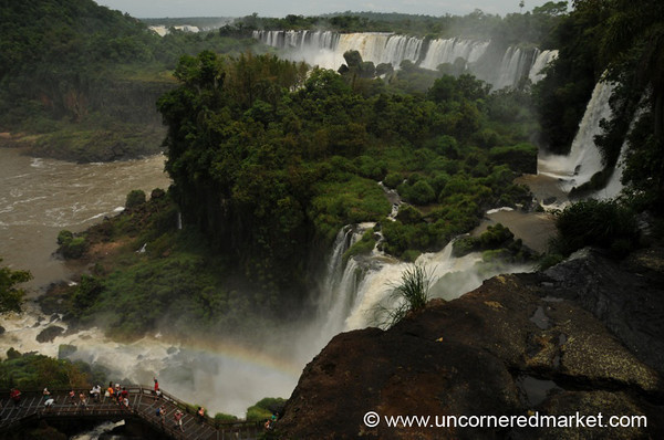Rainbow Waterfall Panorama - Iguazu Falls, Argentina