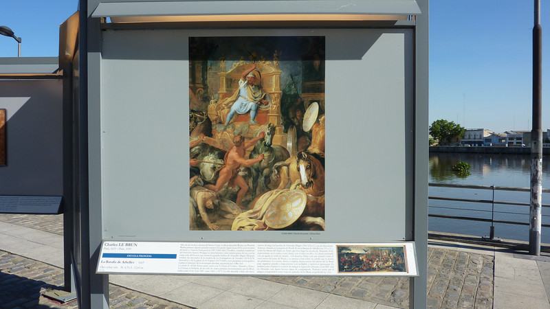 Art work from the Louvre on public display in BA