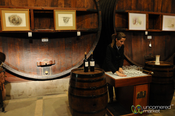 Getting Ready for Wine Tasting - La Rural Winery, Mendoza