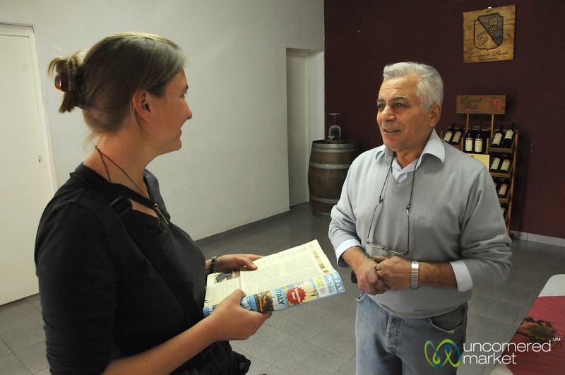 Talking with Carmelo Patti - Mendoza, Argentina
