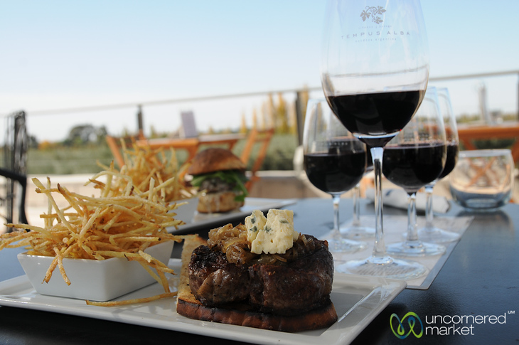 Delicious Meal at Tempus Alba Winery - Mendoza, Argentina