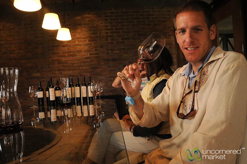 Dan Enjoying the Wine Tasting Experience - Mendoza, Argentina