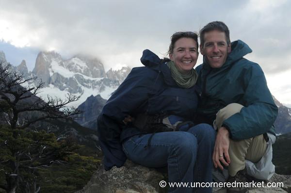Audrey and Dan at El Chalten, Argentina