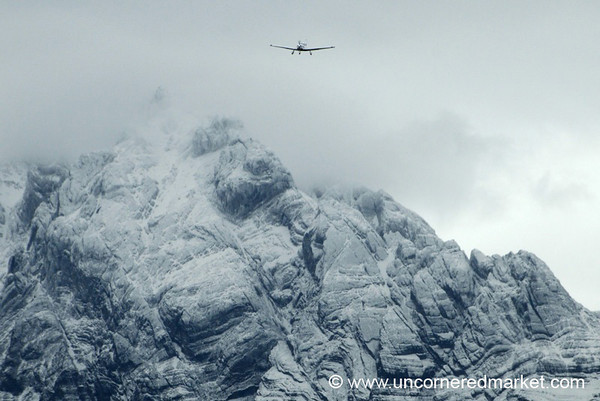Flying Close to the Mountains - Ushuaia, Argentina