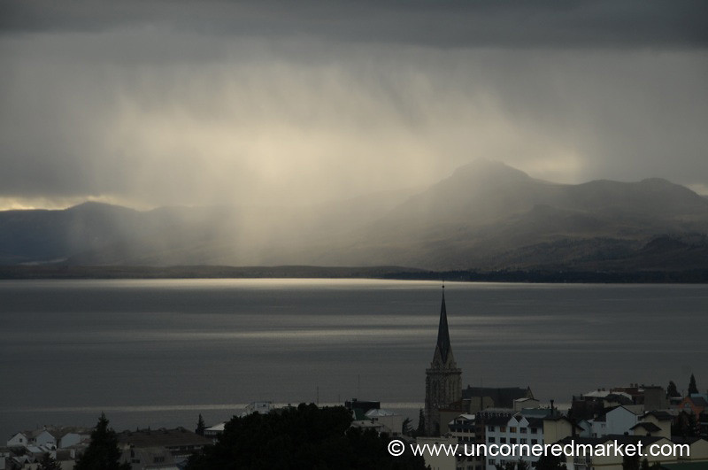 Sun and Clouds at Dusk in Bariloche, Argentina