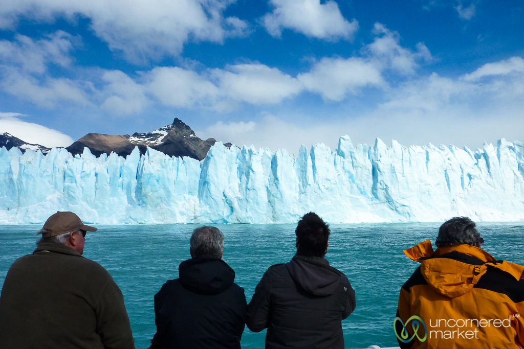 Watching the Glacier from the Boat - El Calafate, Argentina
