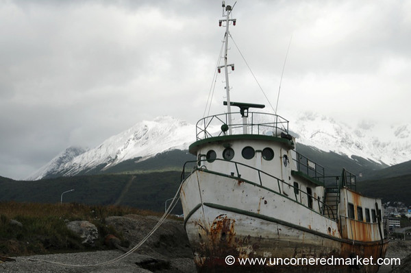 Rusty, Old Ship in Ushuaia, Argentina
