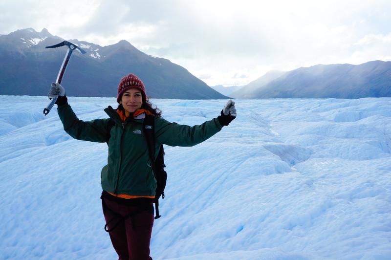 Me, ice trekking at Perito Moreno glacier, Argentina