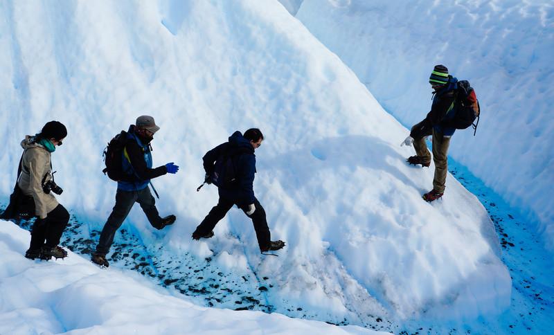 Ice trekking at Perito Moreno glacier, Argentina