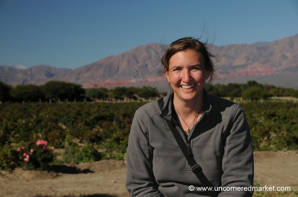 Audrey at the Wineries Near Cafayate, Argentina