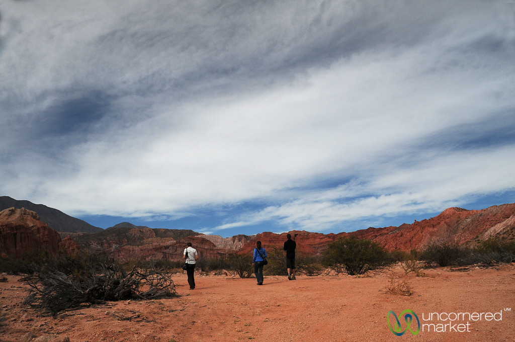 Walking Into the Red Rocks of Northern Argentina