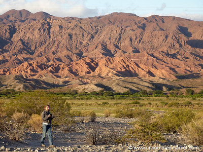 Audrey Taking Photos in Northern Argentina