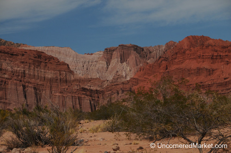 Beautiful Scenery and Red Rocks Outside Cafayate, Argentina