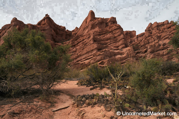 Red Rocks and Desertscapes in Outside Cafayate, Argentina
