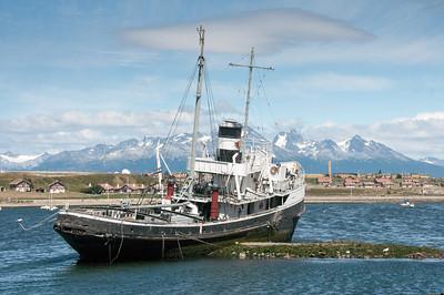 Boat in harbor in Ushuaia, Argentina