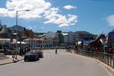 Street scene in Ushuaia, Argentina