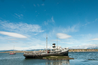 Boat in harbor in Ushuaia, Argentina